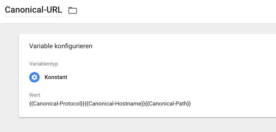 Erstellung Canonical-URL