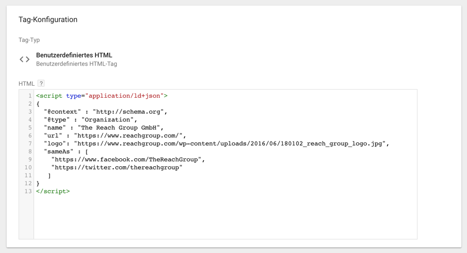HTML-Tag-JSON-LD